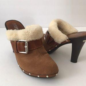 MICHAEL Michael Kors Shoes - 🎉2X HP🎉 Michael Kors Suede & Shearling Clogs